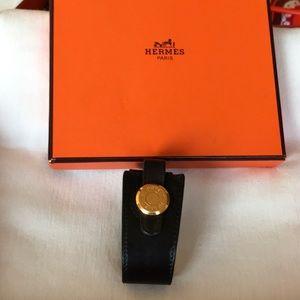 Hermès Clous de Selle Cuff w/Small & large boxes